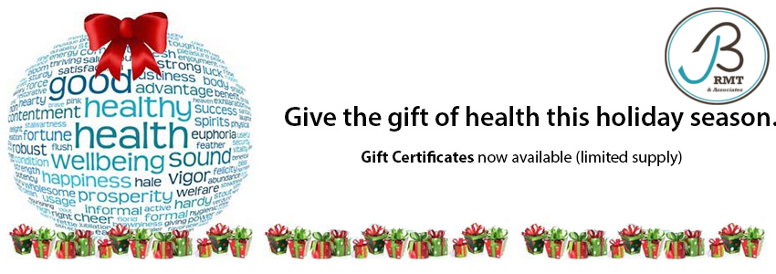 Massage Therapy Gift Certificates now available.